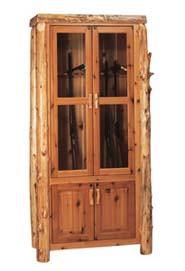 fireside lodge wood gun cabinet