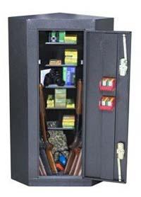 homak corner gun cabinet