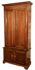 Amish Woodworking wood gun cabinet